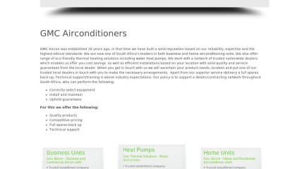 GMC Airconditioners